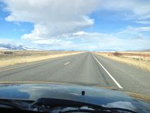 Viagem por estrada de Montana fotografia de stock