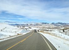 Viagem por estrada de Montana imagem de stock