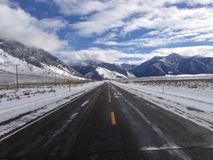 Viagem por estrada de Montana imagem de stock royalty free