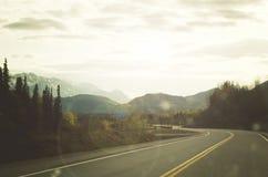 Viagem por estrada do Alasca foto de stock royalty free