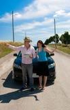 Viagem por estrada - nós vamos aqui Imagens de Stock Royalty Free