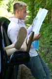 Viagem por estrada - totalmente perdida Fotos de Stock Royalty Free