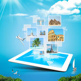 Viagem surreal tecnologico Fotos de Stock