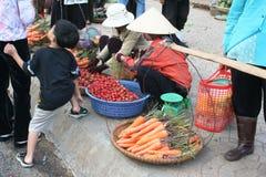 Viagem a Vietname: mercado tradicional em Dalat Fotos de Stock Royalty Free