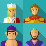 Viaggi al ritratto ad ovest del carattere in piano royalty illustrazione gratis