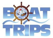 Viaggi della barca illustrazione di stock
