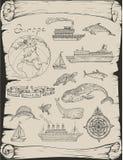 Viaggi della barca ad Europa Immagini Stock Libere da Diritti
