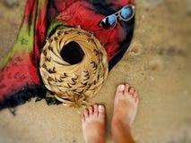 Viaggi della spiaggia di estate immagine stock
