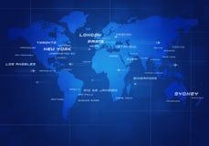 Viaggi di affari di Avia del mondo Fotografia Stock Libera da Diritti