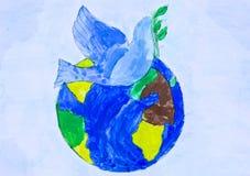 Viaggi per i gruppi di disegni dei bambini della città Harkìv Fotografie Stock Libere da Diritti
