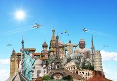Viaggia il concetto dei monumenti del mondo Immagini Stock