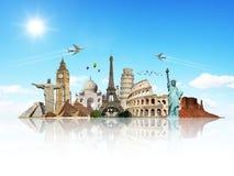 Viaggia il concetto del monumento del mondo illustrazione vettoriale