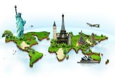 Viaggia il mondo Immagini Stock Libere da Diritti