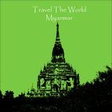 Viaggia il mondo Bagan Myanmar illustrazione vettoriale