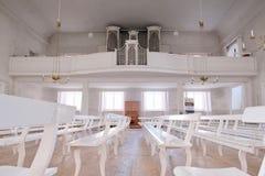 Viaggiando in Europa Organo nel centro della cattedrale Wittenberg Germania 08 09 2017 fotografie stock