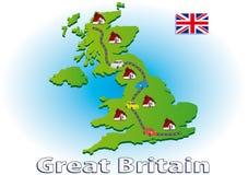 Viaggiando in Gran Bretagna Fotografie Stock Libere da Diritti