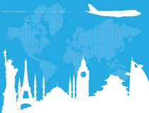 Viaggiando intorno al mondo royalty illustrazione gratis