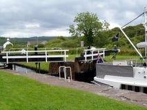 Viaggiando lungo il canale di Crinan Fotografie Stock