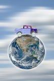 Viaggiando in macchina intorno al mondo Immagini Stock Libere da Diritti