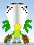 Viaggiando in nave da crociera illustrazione di stock
