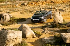 Viaggiando nel deserto Fotografie Stock Libere da Diritti