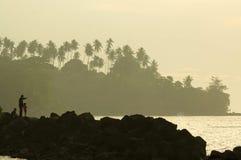 Viaggiando nel manado, Sulawesi del nord, Indonesia fotografia stock