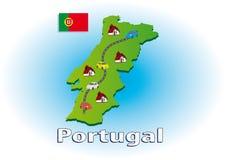 Viaggiando nel Portogallo Fotografia Stock Libera da Diritti
