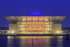 Viaggiando nel teatro dell'opera famoso, Copenhaghen immagine stock libera da diritti