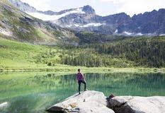 Viaggiando nell'Alaska immagini stock