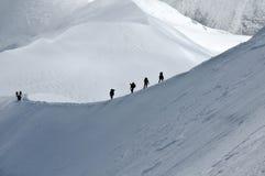 Viaggiando nelle alpi Fotografia Stock Libera da Diritti