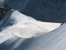 Viaggiando nelle alpi Immagini Stock Libere da Diritti