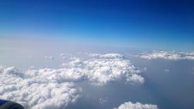 Viaggiando in nuvole Fotografie Stock