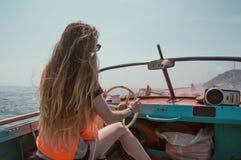 Viaggiando sulla barca Immagine Stock Libera da Diritti