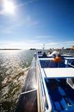 Viaggiando sulla nave Fotografia Stock