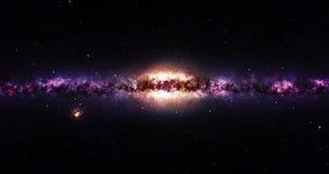 Viaggiando verso una galassia nell'universo royalty illustrazione gratis