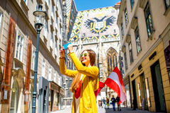 Viaggiando a Vienna fotografie stock