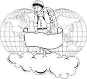 viaggiatore illustrazione di stock