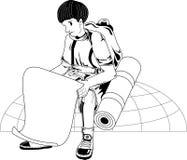 viaggiatore royalty illustrazione gratis