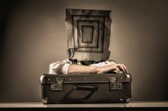 Viaggiatore anonimo Fotografia Stock
