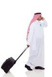 Viaggiatore arabo di affari Immagine Stock Libera da Diritti