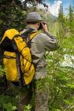 Viaggiatore con la macchina fotografica Fotografia Stock