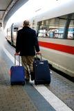 Viaggiatore del treno Immagine Stock Libera da Diritti