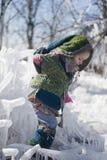 Viaggiatore della bambina in vestiti favolosi Immagini Stock Libere da Diritti