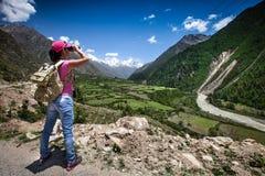 Viaggiatore della donna Fotografia Stock