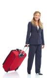 Viaggiatore della donna di affari Fotografie Stock