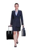 Viaggiatore della donna di affari Immagine Stock