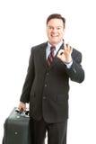 Viaggiatore di affari - AOkay Fotografie Stock Libere da Diritti