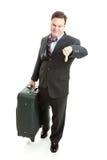 Viaggiatore di affari infelice Fotografia Stock