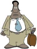 Viaggiatore etnico di affari Immagine Stock