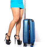Viaggiatore femminile Immagini Stock